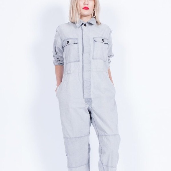 Vintage Coveralls Overdyed in CA - Stone